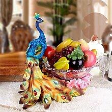 LHL-Fruit tray Europäische Stil Obstschale Pfau