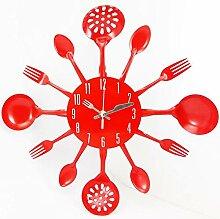 LHLDD Küchenwanduhr - Küchengerät Uhr,