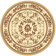 LHP Amerikaner Runde Teppich für Wohnzimmer, Esszimmer, Kaffee, Tisch, Stuhl Computer Mat High-End ( farbe : M , größe : 1.0*1.0m )