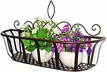 LHP Continental Iron Wandbehang Flower Pot Regal, Balkon Blumenregal, Dekorative Pflanze Regal High-End ( farbe : Bronze , größe : S )