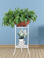 LHP Europäische - Stil Einfache Eisenboden Blumentöpfe Regal Für Wohnzimmer, Balkon, innen, hängenden Rack für Orchidee High-End ( farbe : Weiß )
