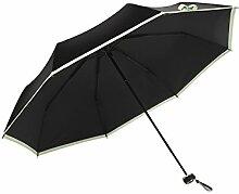 LHP Schwarz Regenschirm Anti-UV-Vinyl Double-Layer-Sonnenschutz Regenschirm Sonnenschirm Sunny Regenschirm Folding Umbrella Frau High-End ( Farbe : D )