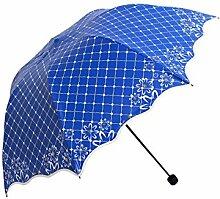 LHP Sonnenschirm Anti-Ultraviolett Sonne / Regen Regenschirm Sonnenschutz Falten Regenschirm High-End ( farbe : D )