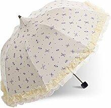 LHP Sonnenschirm Sonnenschutz Anti-Ultraviolett Sonnenschirm Sonne / Regen Umbrella High-End ( farbe : A )