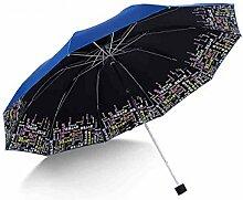 LHP Sonnenschutz Anti-Ultraviolett Falten Sonne / Regen Regenschirm Übergroße Doppelzimmer Menschen Regenschirm Drei Fold Regenschirm High-End ( farbe : B )