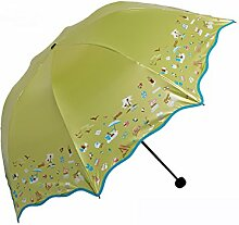 LHP Sonnenschutz Anti-UV-Abdeckung Die Sonne Umbrella Lightweight Falten Regenschirm Regen Oder Shine Dual-use Regenschirm High-End ( farbe : G )