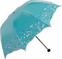 LHP Sonnenschutz Anti-UV-Abdeckung Die Sonne Umbrella Lightweight Falten Regenschirm Regen Oder Shine Dual-use Regenschirm High-End ( farbe : H )