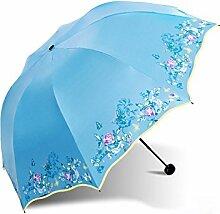 LHP Sonnenschutz Anti-UV-Abdeckung Die Sonne Umbrella Lightweight Falten Regenschirm Regen Oder Shine Dual-use Regenschirm High-End ( farbe : I )
