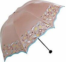 LHP Sonnenschutz Anti-UV-Abdeckung Die Sonne Umbrella Lightweight Falten Regenschirm Regen Oder Shine Dual-use Regenschirm High-End ( farbe : A )