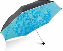 LHP Super Sonnenschutz gegen ultravioletten Sonnenschirm Folding Sunny Regenschirm High-End ( farbe : E )