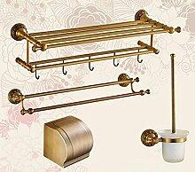 LHRain Alle Copper Badezimmer Hardware-Anhänger / Handtuchhalter / Bad-Accessoires Regal ( Farbe : 14# )