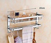 LHRain Badezimmer Regale / Raum-Aluminium Handtuchhalter / Wandbehang Bad-Accessoires Regal ( Farbe : 1# )