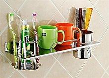 LHRain Badezimmer Regale / Zahnbürstenhalter Edelstahl Regale Regal ( Farbe : 1# )