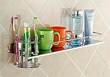 LHRain Badezimmer Regale / Zahnbürstenhalter Edelstahl Regale Regal ( Farbe : 2# )