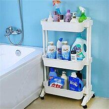LHRain Bewegliche Lagerregal Toilette / Bad Kunststoff Küche Lagerregal / Stehlagerregal Punch Regal ( Farbe : 2* )