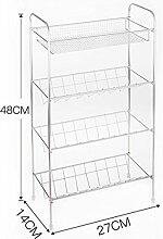 LHRain Edelstahl-Badezimmer-Regale / Stativ Bad / WC Kosmetik zwei drei Lagerregal Regal ( Farbe : 3# )