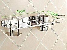LHRain Edelstahl Zahnbürstenhalter Kit Wandbehang / WC Regale / Entladung Comb Shelf Regal ( Farbe : 3# )