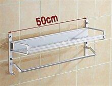 LHRain Raum Aluminium Bad Racks / gelochten Regal / Ablageboden Bad Handtuch Regal ( Farbe : 2* )