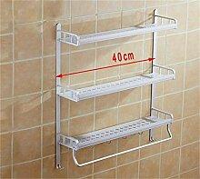 LHRain Raum Aluminium Bad Racks / Gestelle eingebettet Schraube Regal ( Farbe : 4* )