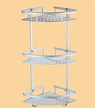 LHRain Raum Aluminium Bad Racks / Schraub-Racks / Bad Regal Küche Multifunktions Regal ( Farbe : 2* )