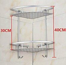 LHRain Raum-Aluminium Badezimmer Regal Zwei Ebenen / Badezimmer Regale / Badezimmer Tripod Regal