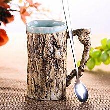 LHshb Becher Keramik-Becher Kaffeetassen Keramik-Stangen tassen Milch-Getränke Kaffeehaferl Kreative Geschenke ( farbe : 1 )