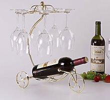 LHwine Wein Racks Eisen Persönlichkeit Rotwein Flasche Rack Dekoration Weinregale Wein Display Stand Weinregale (Farbe : A)