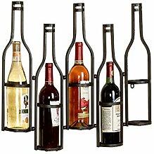 LHY Wand-Weinregal für 5 Flaschen,