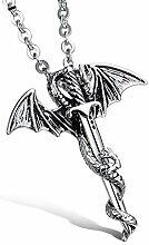 Li.Du Männer S Edelstahl Pterosaur & Schwert