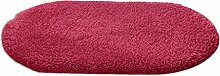 LI JING SHIOP - Badezimmer Wasserabsorption rutschfeste Fußmatten, Schlafzimmer Küche Türrot Rotwein Teppich ( Farbe : Runden , größe : 140*200CM )