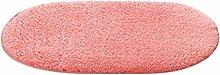 LI JING SHIOP - Badezimmer Wasserabsorption rutschfeste Fußmatten, Schlafzimmer Küche Türöffnung rosa Teppich ( Farbe : Runden , größe : 140*200CM )