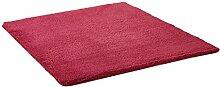LI JING SHIOP - Badezimmer Wasserabsorption rutschfeste Fußmatten, Schlafzimmer Küche Türrot Rotwein Teppich ( Farbe : Platz , größe : 50*80CM )