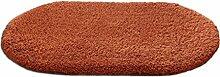 LI JING SHIOP - Badezimmer Wasserabsorption rutschfeste Fußmatten, Schlafzimmer Küche Tür brauner Teppich ( Farbe : Runden , größe : 80*160cm )