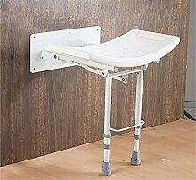 LI JING SHOP - Badezimmer-Stuhl Aluminiumlegierung Einziehbarer alter Mann Bad-Stuhl Schwangere Frauen Duschstuhl Multifunktions-Stuhl