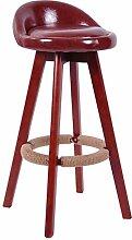 LI JING SHOP - Brown Massivholz Hocker mit einem Sitz zurück High Hocker Barhocker Modern Simple Home Dressing Hocker ( Farbe : Braun )