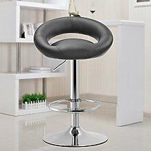 LI JING SHOP - Gasstange Lift Stuhl Verstellbarer Rückenlehne Hocker Esszimmerstuhl europäischen Stil Barhocker ( Farbe : Schwarz )