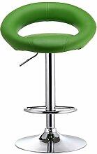 LI JING SHOP - Gasstange Lift Stuhl Verstellbarer Rückenlehne Hocker Esszimmerstuhl europäischen Stil Barhocker ( Farbe : Grün )