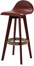 LI JING SHOP - Massivholz kann gedreht werden Küchenhocker Hocker Europäischer Stil Einfache Bar Stuhl Bar Hohe Hocker Home Dressing Hocker ( Farbe : Braun , größe : 36*35*88CM )