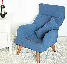 LI JING SHOP - Schwangere Fütterung Stuhl Klappbare Rückenlehne Stillstuhl mit Waschbar Baumwolle und Leinen Mantel ( Farbe : Blau )