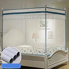 LI LU SHOP Einfache Bett-Zip-Moskitonetz