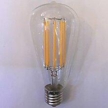 LI1 Stück kwb E26/E27 10W 8 COB 1000 lm Warmes Weiß / Bernstein ST64 Vintage LED Glühlampen AC 85-265 V
