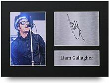 Liam Gallagher, Oasis, gedruckte Autogrammkarte,