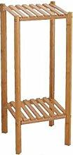 LIAN` 2 Tier Bambus Blumentopf Rack Balkon