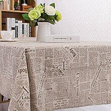 LIAN Englisch Zeitung Baumwolle Leinen Tischtuch