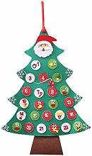 Liancany DIY Filz Weihnachtsbaum Adventskalender