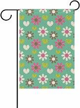 LIANCHENYI Blumen mit grünen Punkte doppelseitig