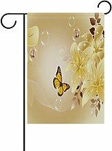 LIANCHENYI Blumen, Schmetterlinge, Flagge,
