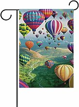 LIANCHENYI bunte Luftballons, Flagge, Polyester,