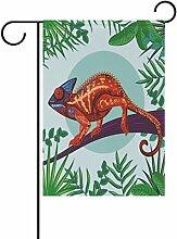 LIANCHENYI Chameleon mit grünen Blättern