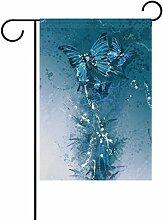 LIANCHENYI Deko-Schmetterlinge, Flagge, Polyester,